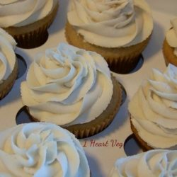 Vegan Vanilla Buttercream Frosted Cupcakes