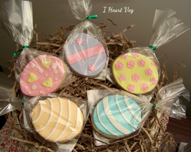 Packaged Vegan Easter Egg Decorated Cookies