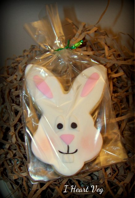 Packaged Vegan Sugar Cookie Bunny