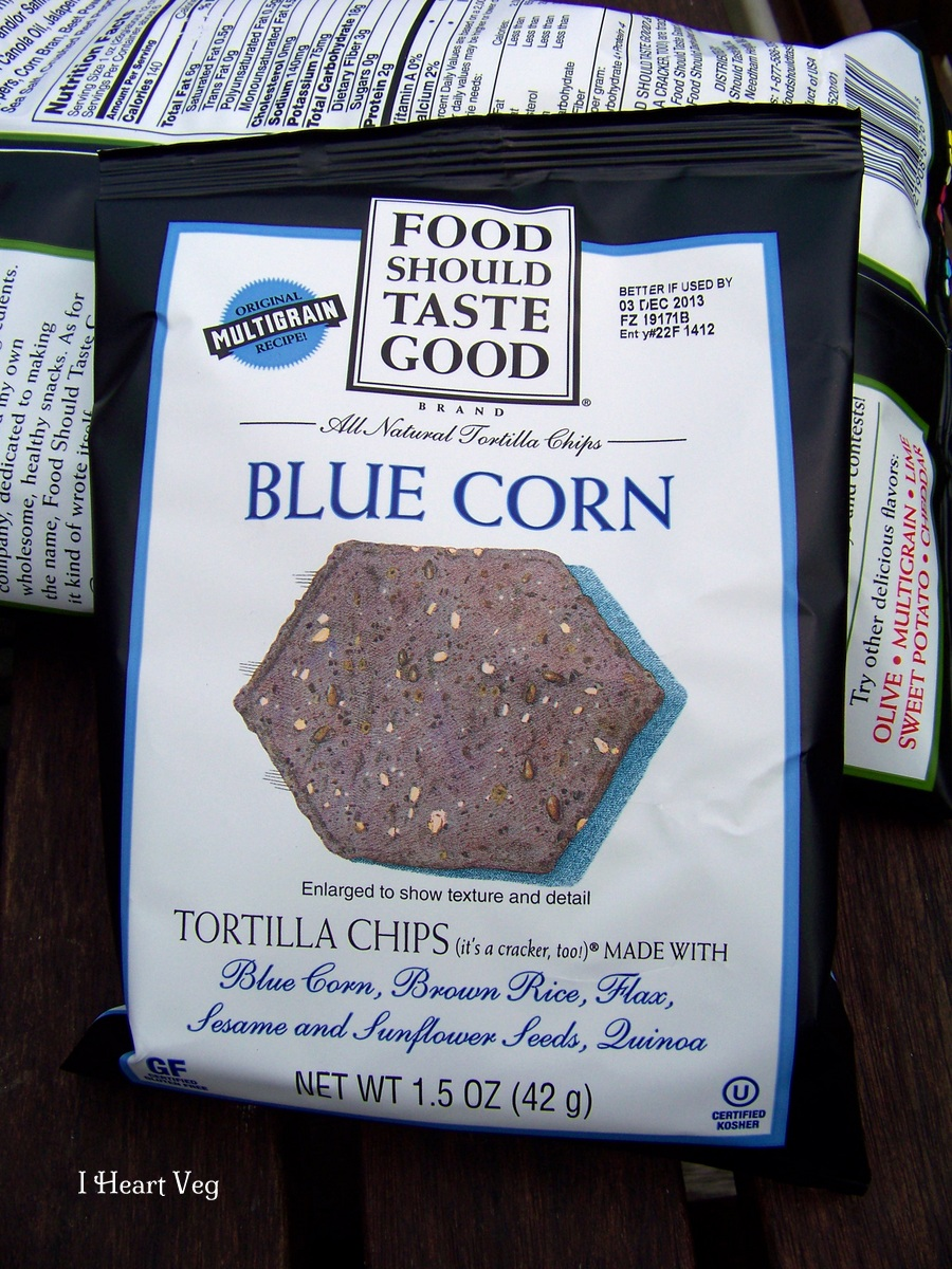 food should taste good blue corn chip