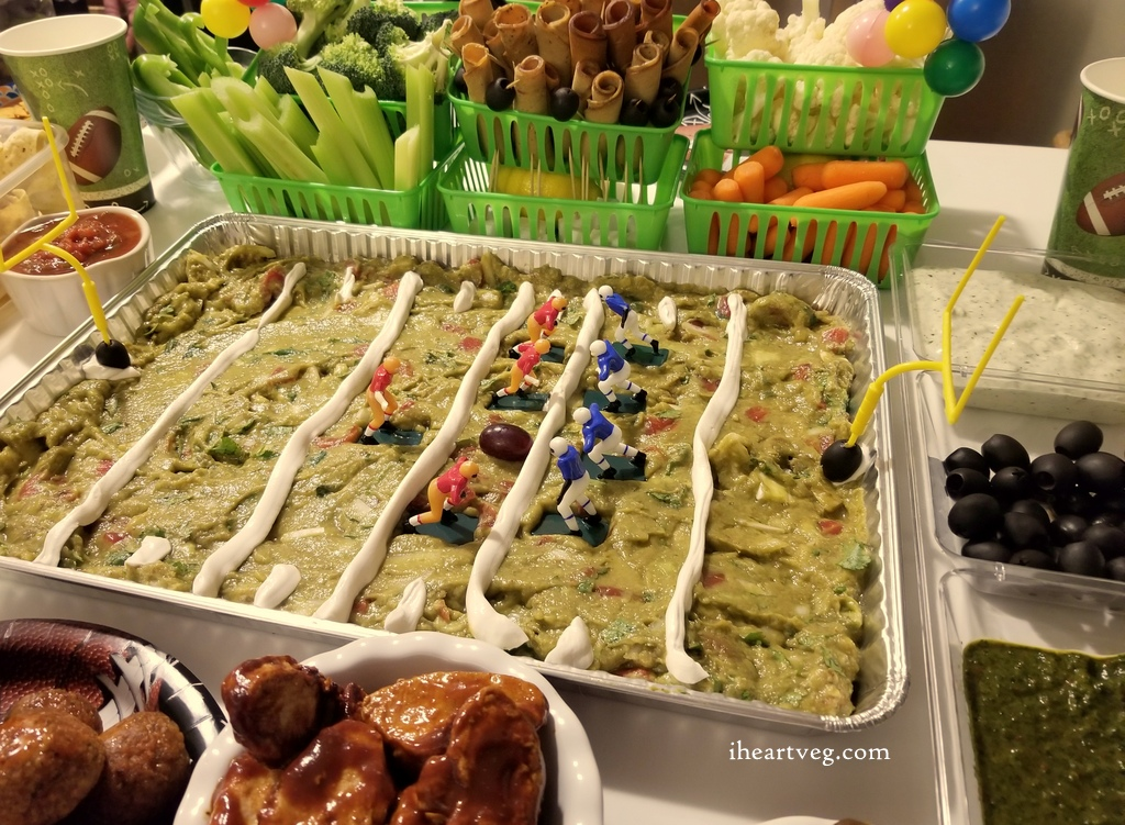vegan guac football field