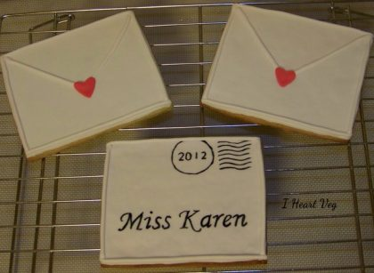 Customized Love Letter Cookies