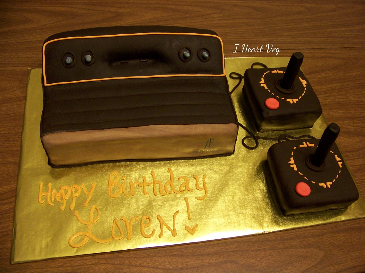 Cake in the shape of Atari Game Console